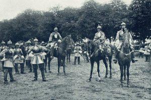 Kürassiere von 1701 mit ihren Offizieren.